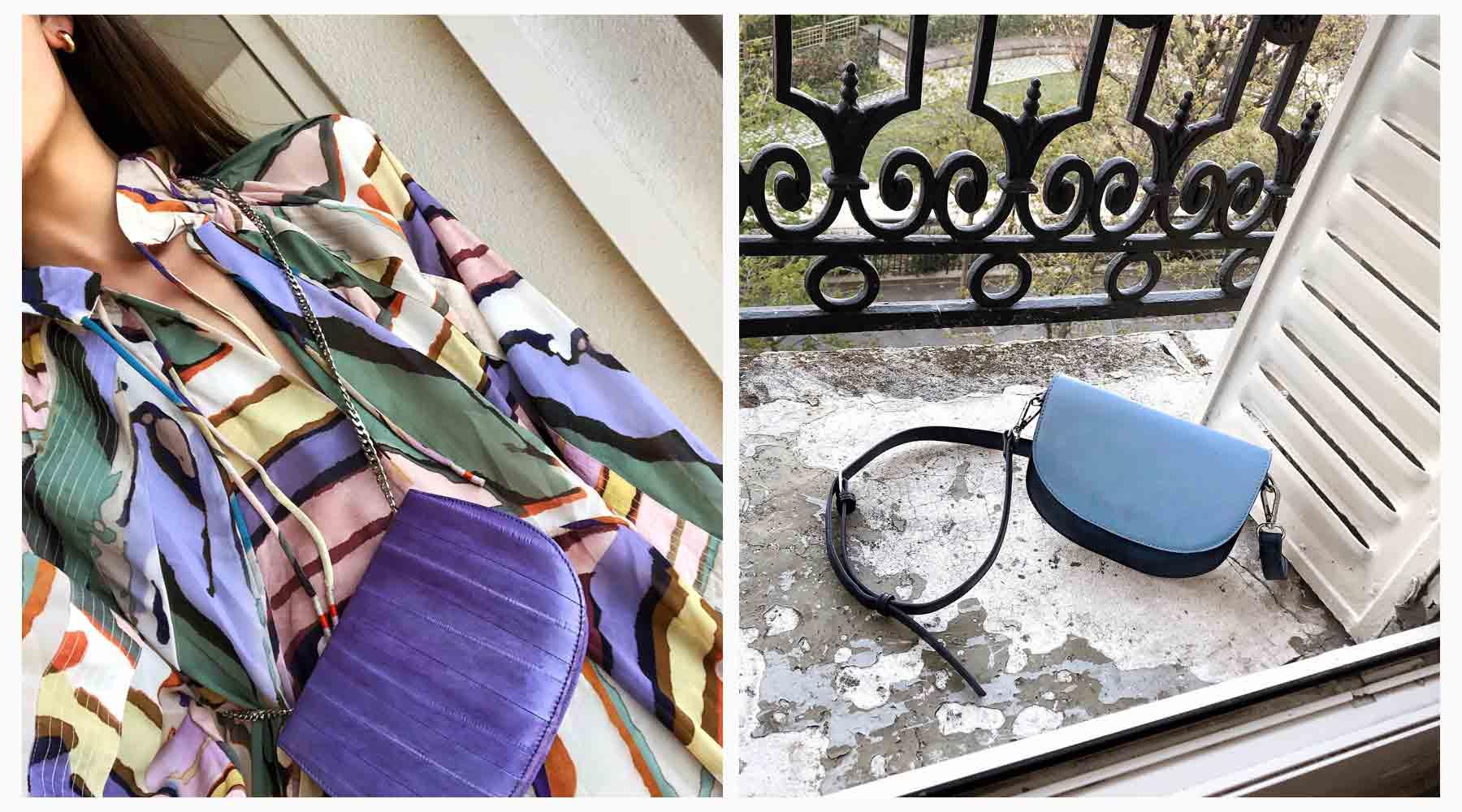 Scandinavian fashion brand content creation. Influencer Vera Lobik shot in Paris.