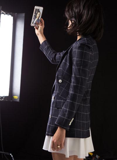 Suistudio content shoot for Instagram Stories. Women's suits brand.